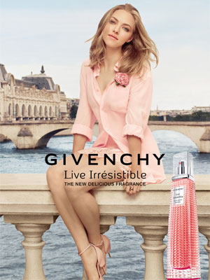 Amanda Seyfried Givenchy Live Irresistible Delicieuse fragrances celebs