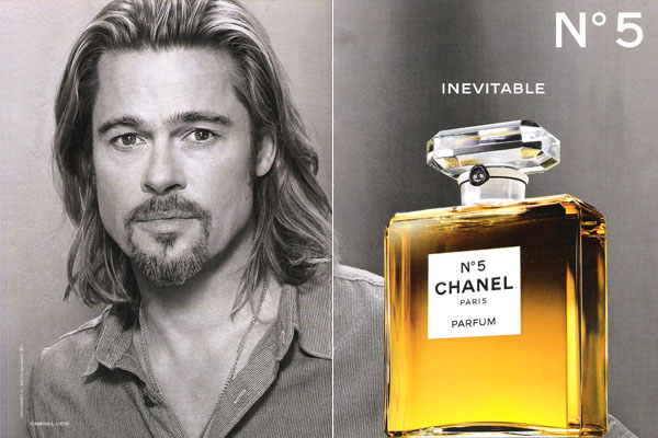 Brad Pitt Chanel No.5 Perfume, Celebrity Perfume Brad Pitt ...