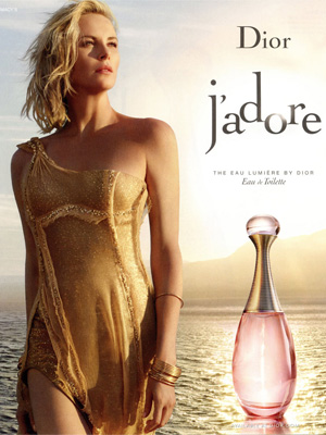 Charlize Theron Dior J'adore Eau Lumiere