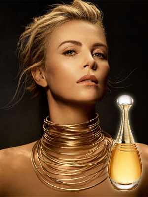 Charlize Theron Dior J'adore Infinissime celebrity perfume