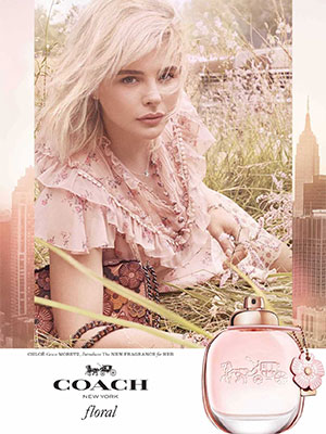 Chloe Grace Moretz Coach Floral celebrity scentsation