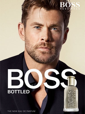 Chris Hemsworth Hugo Boss BOSS Bottled celebrity scents