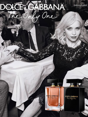 Emilia Clarke Dolce & Gabbana The Only One Intense