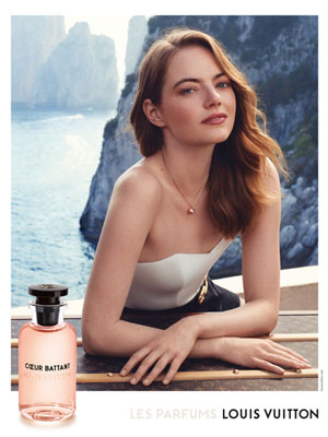 Emma Stone Louis Vuitton Coeur Battant magazine ads