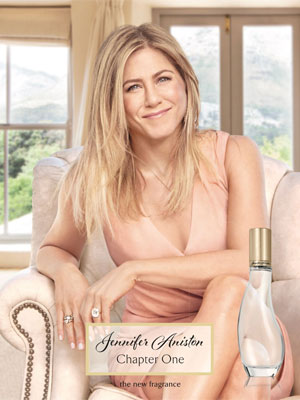 Jennifer Aniston Chapter One celebrity colognes
