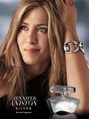 Jennifer Aniston Silver Celebrity Perfume Ad