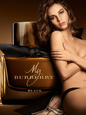 Lily James My Burberry Black