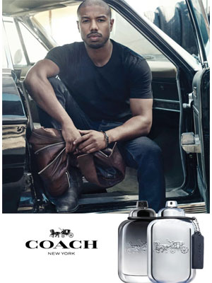 Michael B. Jordan Coach Platinum celebrity fragrances
