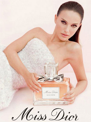 Natalie Portman for Miss Dior perfume celebrity scentsation