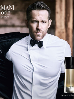 Ryan Reynolds Armani Code Absolu celebrity ads
