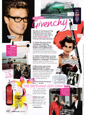 Simon Baker Givenchy Gentlemen Only celebrity scentsation