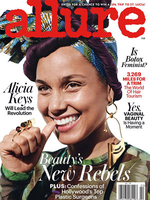 Alicia Keys Allure February 2017