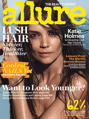 Allure April 2013 Katie Holmes