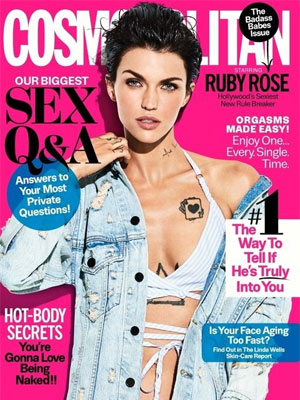 Ruby Rose Cosmopolitan March 2017
