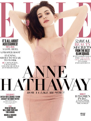 Anne Hathaway Elle April 2017