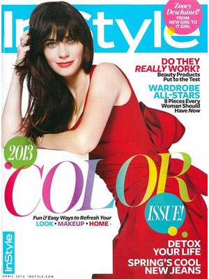 InStyle April 2013 Zooey Deschanel