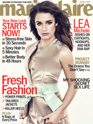 Marie Claire January 2013 Lea Michele