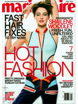 Marie Claire April 2014 Shailene Woodley