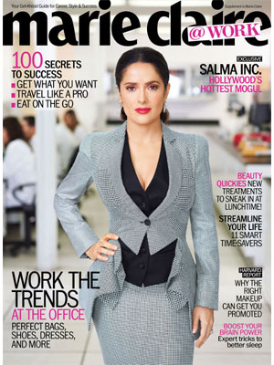 Marie Claire at work, May 2012, Salma Hayek