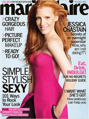 Marie Claire December 2012 Jessica Chastain