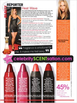 Beyonce Knowles Heat Rush Perfume Celebrity Perfume