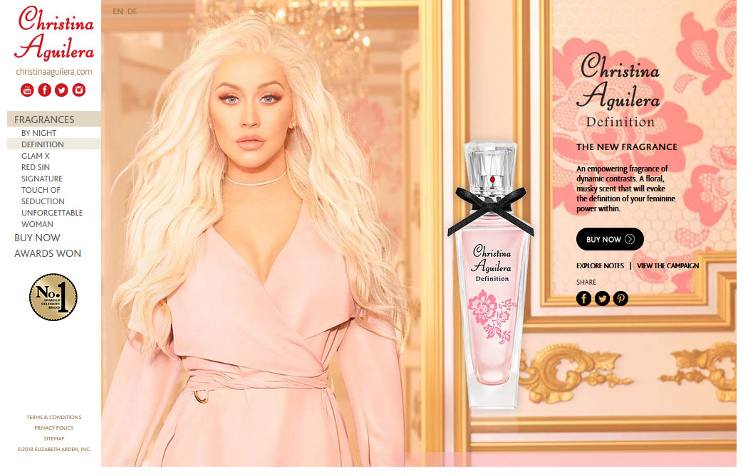 Christina Aguilera Definition Perfume, Celebrity Perfume