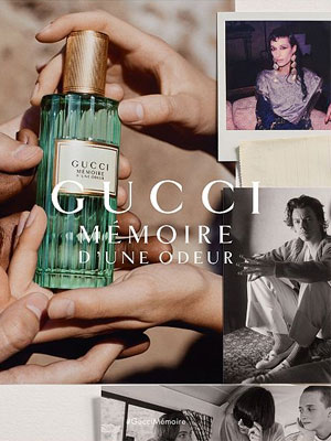 Harry Styles models Gucci Memoire d'Une Odeur