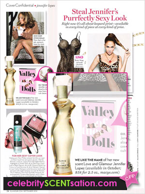 Love and Glamour Perfume, Glamour Sept 2010